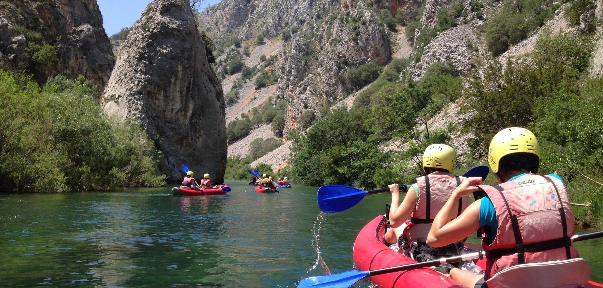 Partir en vacances faire du canoe en Croatie